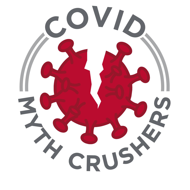 Logotipo de COVID Myth Crushers.