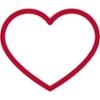Contorno rojo de un corazón