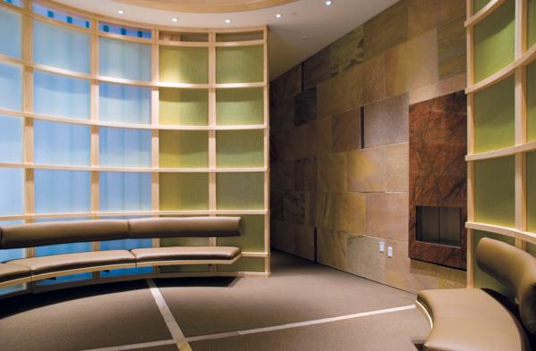 Imagen de la sala de meditación