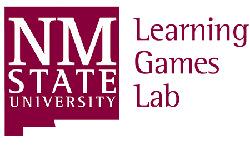 Logotipo del laboratorio de juegos de aprendizaje de la Universidad Estatal de NM.