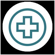 Icono de cruz de emergencia.